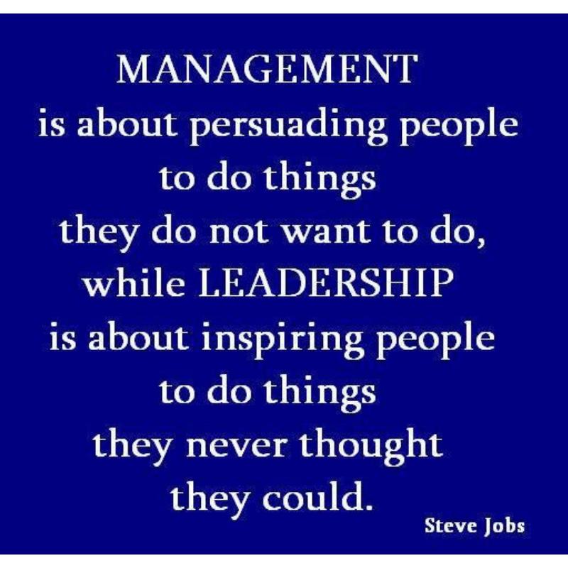 Om te managen moet je kunnen leidinggeven!