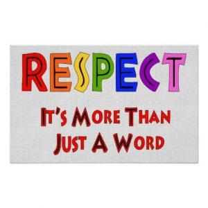 Is respect nog nodig?